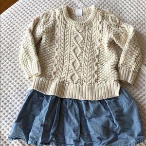 Gap denim and sweater dress